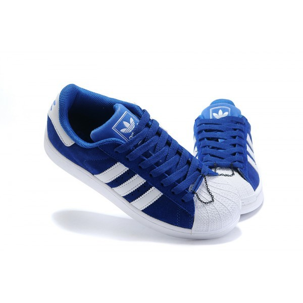 basket adidas superstar bleu