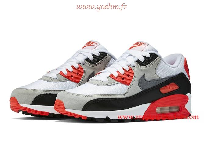 chaussures de séparation b6497 3ad82 air max 90 noir blanc rouge