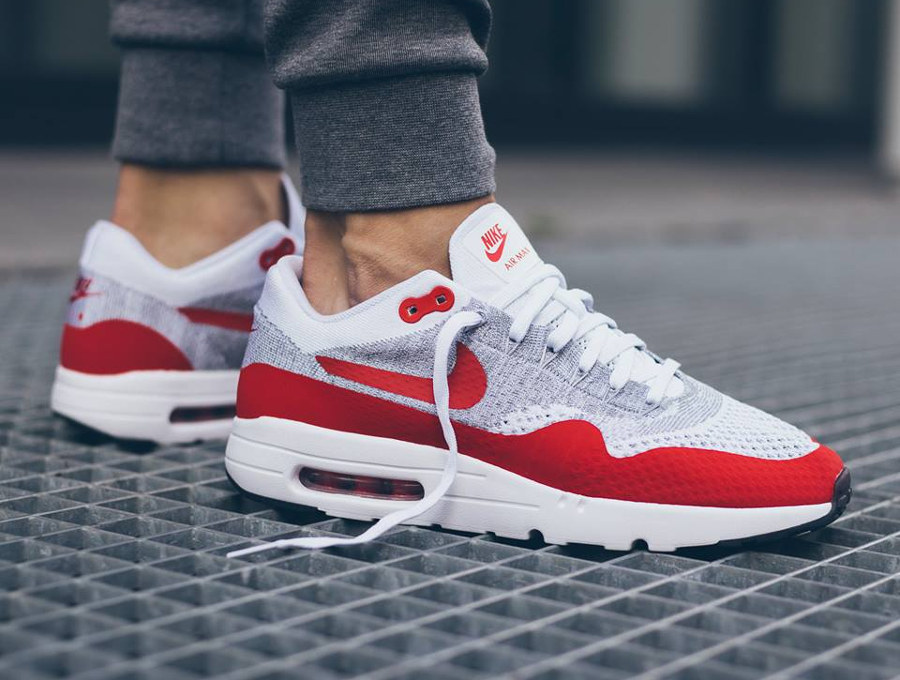 new style 150e6 36e2c nike air max 1 ultra flyknit rouge