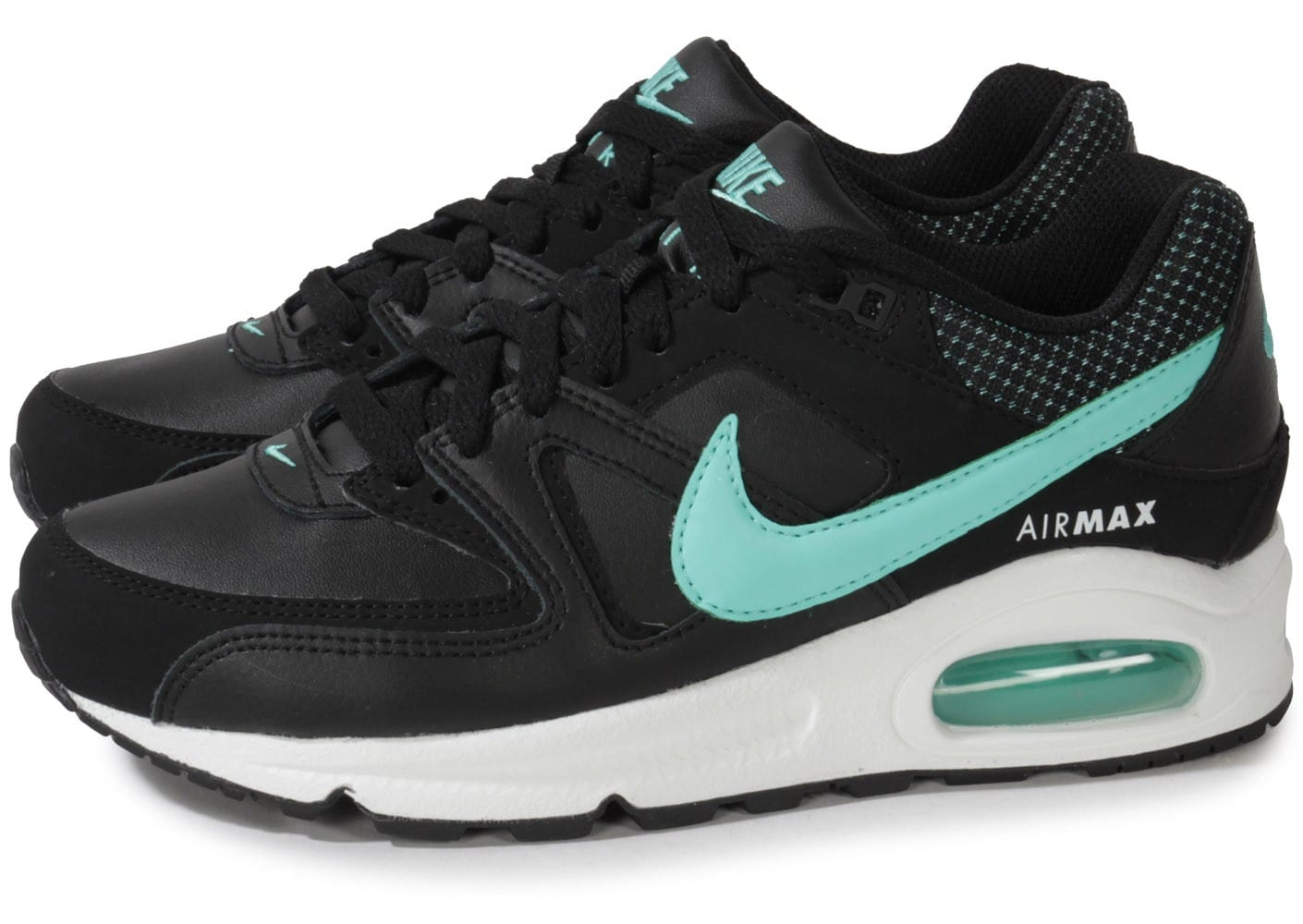 low priced bbd97 3b19d nike air max command cuir noir turquoise