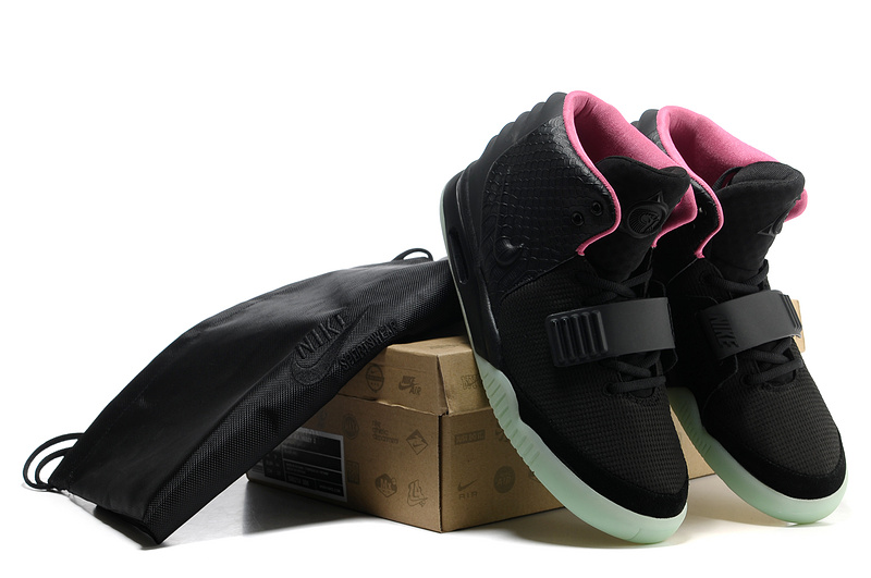 new styles 4d5fb ac63a nike air yeezy noir et rose